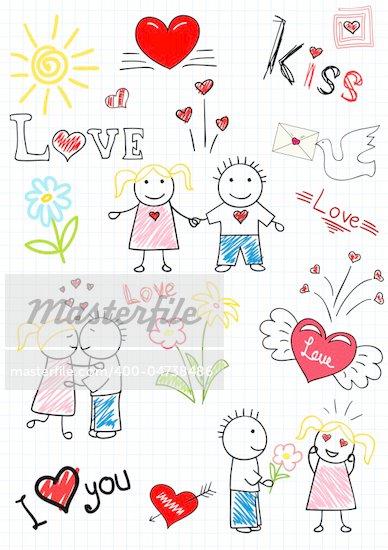 романтические рисованные картинки